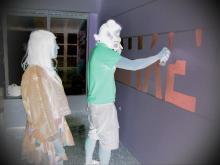 grafiti στο στεκι